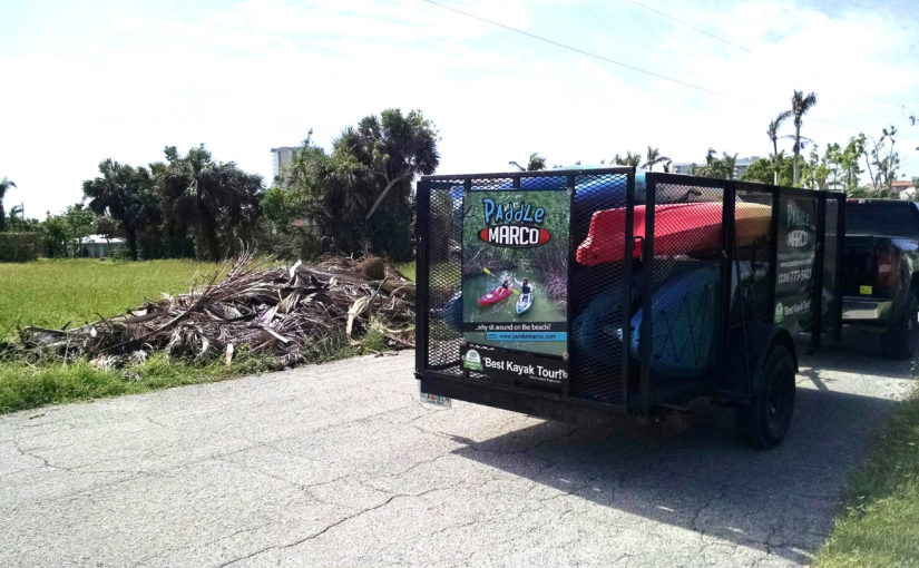 Debris Piles Finally being Cleaned up on Marco Island